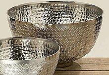 Boltze Deko-Schale Detroit Aluminium Silber D 20,5