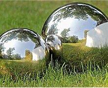 Boltze Dekokugel, Gartenkugel Galaxy in Silber aus