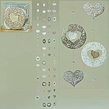 Boltze Home Collections Capiz-Girlande 4er Set, L