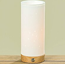 Boltze Lampe Carima Porzellan Weiß Höhe 25 cm,