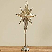 Boltze Lampe Stern July H98cm Eisen silber