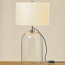 Boltze Lampe Tischlampe Glasfuß klar 44cm