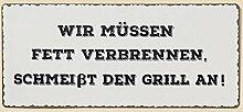 Boltze Schild Blechschild Garten Grill - Wir