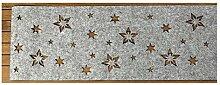Boltze Tischläufer Flake Filz grau mit Stern 120