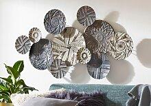 BOLTZE Wanddekoobjekt Caritan 110x8x60 cm grau