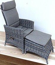 Bolzano Dining Sessel mit Fußteil und inkl.Kissen mehrfach verstellbar Roca Taste 4 Seasons Outdoor
