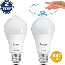 Bomcosy LED Lampe E27 13W PIR Smart Sensor