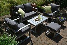 bomey Aluminium Lounge Set I Gartenmöbel Set Lyon