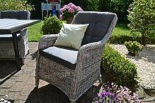 bomey Rattan-Sessel mit Polster I Gartensessel
