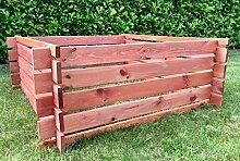 Bomi Komposter aus Holz | Holzkomposter Mülleimer Phil Kirschbaum wetterfest | Kompostsilo 120 cm für Garten | Holz-Stecksystem Kompostbehälter Steckkomposter aus Holz
