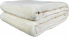 Bon Enjoy® Kuscheldecke Tagesdecke Wohndecke Decke Microfaser Fleecedecke Wolldecke Samt weiß 210cm*230cm