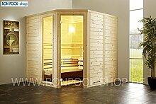 BON POOL Sauna-Set, Fronteinstieg B x T x H 210x180x200 Bi-O Ofen 7,5kW