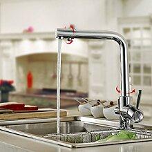 BONADE 3-Wege-Küchenarmatur Wasserfilter Wasserhahn Küche Spültischarmatur für Trinkwasser 2 Griff Wasserdüse Mischer Küchenspüle spültischbatterie