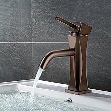 BONADE 59-Kupfer Retro Waschtischarmature Waschbecken Bad Armatur Mischbatterie Einhebel Wasserhahn für Badezimmer Braun