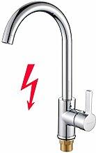 BONADE Kupfer Niederdruck Küchearmatur Wasserhahn Mischbatterie Armatur 360° Drehbar Einhebelmischer mit ABS Bubbler