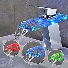 BONADE LED Wasserhahn bad Waschbecken mit RGB 3