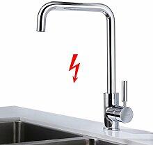 BONADE Niederdruck Küchearmatur 7- Form Einhebel Spültischarmatur 360° Schwenkbar Küche Armatur Wasserhahn Mischbatterie für Küche Spüle