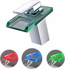 Bonade - RGB LED Wasserfall Wasserhahn Bad,