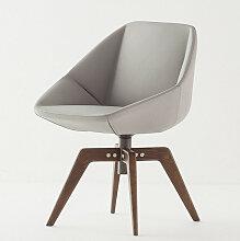 Bonaldo STONE Designer Stuhl mit Holzbeine, drehbar