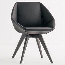 Bonaldo STONE Designer Stuhl mit Holzbeine