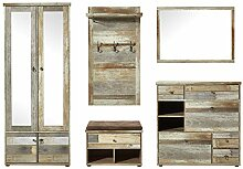 Bonanza Vintage Garderoben Set in Driftwood Optik