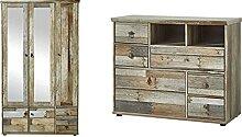 Bonanza Vintage Garderobenschrank in Driftwood