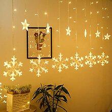 Bonbela Romantischen 3m Stern Schneeflocken