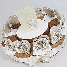 Bonboniere-Torte Gastgeschenk für Erstkommunion