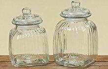 Bonboniere Vorrratsdose Glasgefäß Glasbehälter