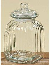 Bonboniere Vorrratsdose Glasgefäß Glasbehälter aus Glas 26cm