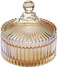Bonbonniere, 280 ml, Kristallglas, mit Deckel,
