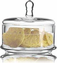 Bonbonniere aus Klarglas