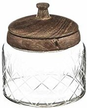 Bonbonniere mit Deckel Mangoholz 13cm