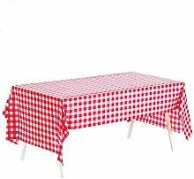 Bonchance 10 Stück Kunststoff-Tischdecke,