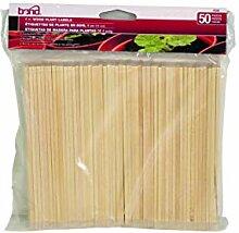 Bond Manufacturing 506 Pflanzenetiketten, Holz, 50