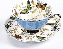 Bone China Kaffeetasse Sets Bunte