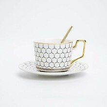 Bone China Kaffeetasse Untertasse Löffel Set