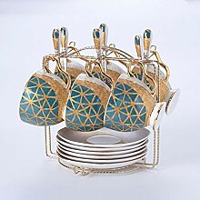 Bone China Teetasse Untertasse Löffel Set 250ml