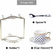 Bone Kaffeetasse Untertasse Löffel-Set 200 ml