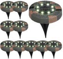 BONETTI LED Gartenleuchte Solar Bodenleuchte mit