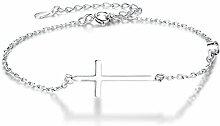Boniris Kreuz-Armband für Damen, 925