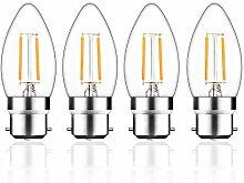 Bonlux 4-Pack 2W B22 BC LED Glühfaden