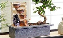 Bonsai: Bonsai-Baum mit Stein-Wasserfall