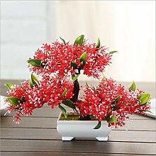 Bonsai Pflanze, 2-teiliges Set Kunstpflanze
