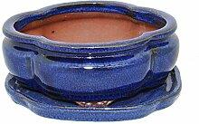 Bonsai-Schale mit Unterteller Gr. 2 - haitang I3 -
