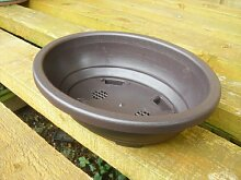Bonsai-Topf, Oval, aus Kunststoff, 24 cm