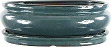 Bonsaischale mit Untersetzer 30.5x25.5x9.5cm