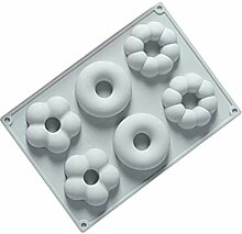 Bontand 6 Grids Donut Silikon Backform