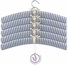 BonVivo® Lavinia Gepolsterte Stoff-Kleiderbügel,