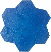 BonWay 12-873 Biegsame Matte, Urethanstruktur, Stein-Muster, für dekorativen Beton, Blau, 73,6°cm